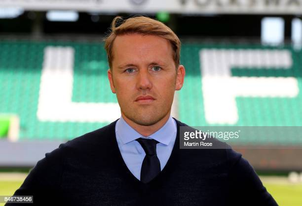 Olaf Rebbe sport director of VfL Wolfsburg poses during the team presentation at on September 13 2017 in Wolfsburg Germany