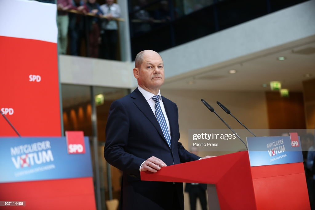Olaf Scholz At The Press Conference In The Willy Brandt Haus In News Photo Getty Images