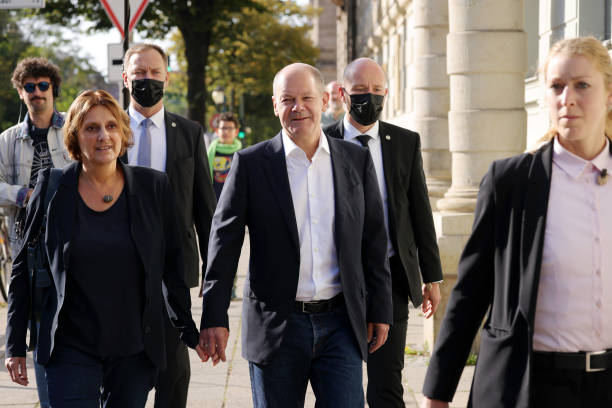 DEU: Olaf Scholz, SPD Chancellor Candidate, Votes In Federal Elections