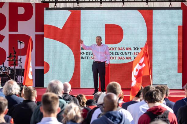 DEU: Olaf Scholz, SPD, Campaigns In Berlin