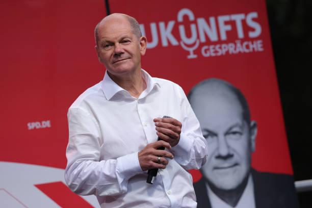DEU: Olaf Scholz, Now Leading In Polls, Campaigns In Leipzig