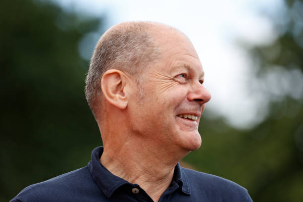 DEU: Olaf Scholz Campaigns In Northern Germany