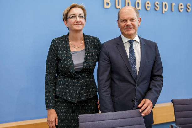 DEU: Olaf Scholz And Klara Geywitz Hold A Press Conference To Present Their Candidacy For Leadership Of The SPD