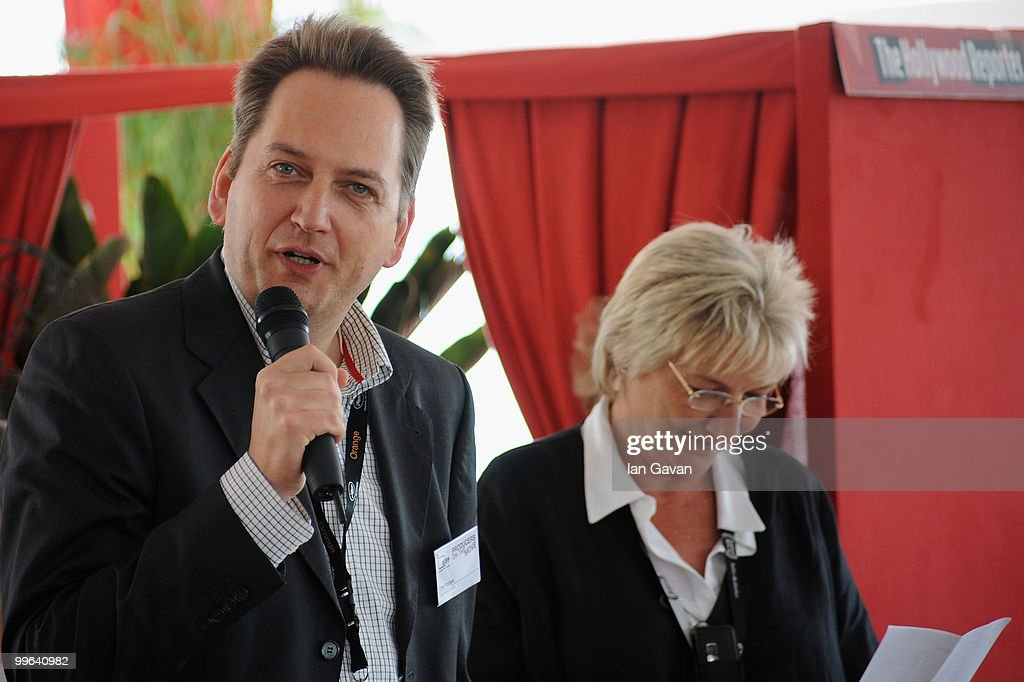 Olaf Stuhrk and Eva Vezer attends the 'Producers On The Move' Luncheon at the The VIP Room during the 63rd Annual Cannes Film Festival on May 17, 2010 in Cannes, France.
