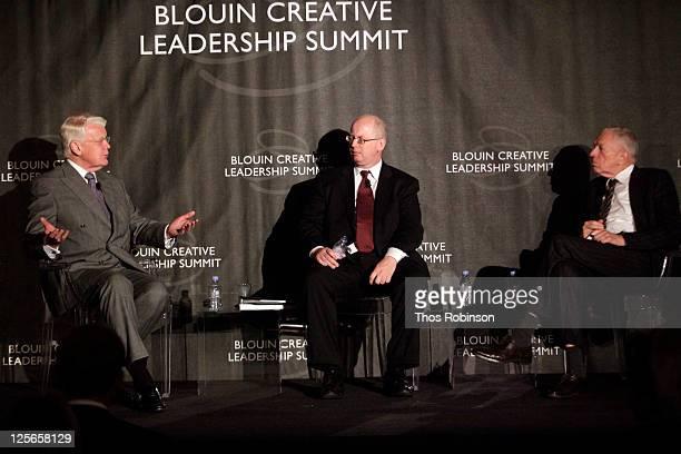 Olafur Ragnar Grimsson, President of the Republic of Iceland, Matthew Bishop of the Economist, and professor Edmund Phelps of Columbia University...