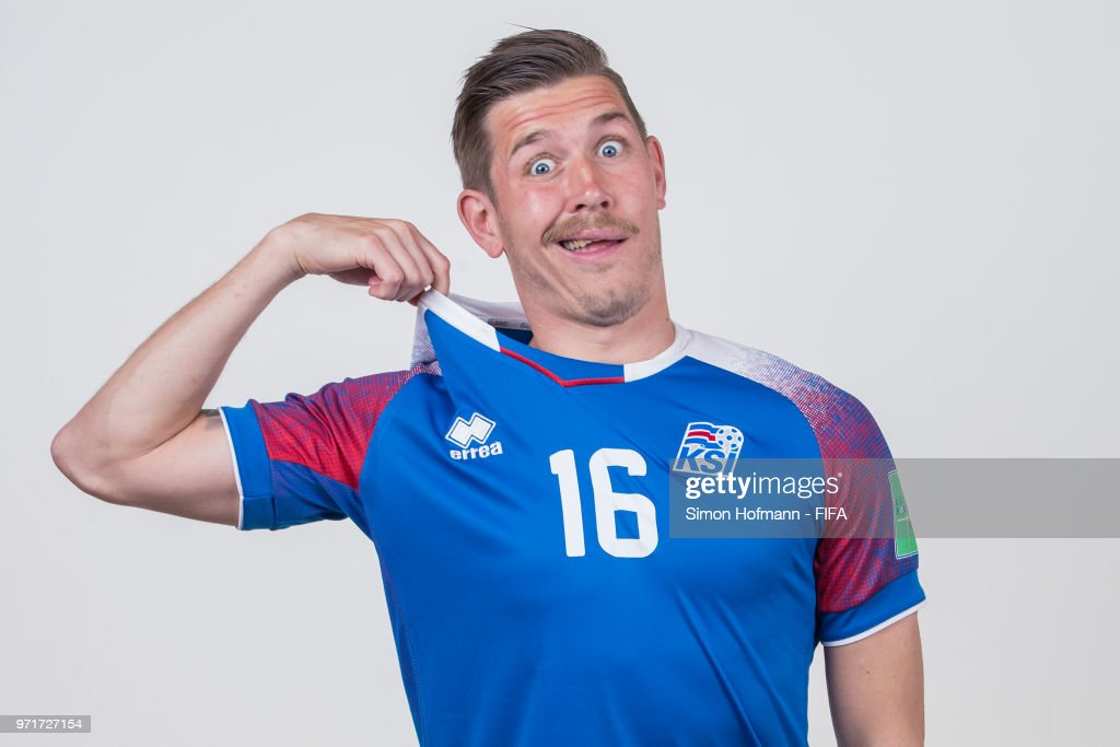 Olafur Skulason of Iceland poses during the official FIFA World Cup 2018 portrait session at Resort Centre Nadezhda on June 11, 2018 in Gelendzhik, Russia.