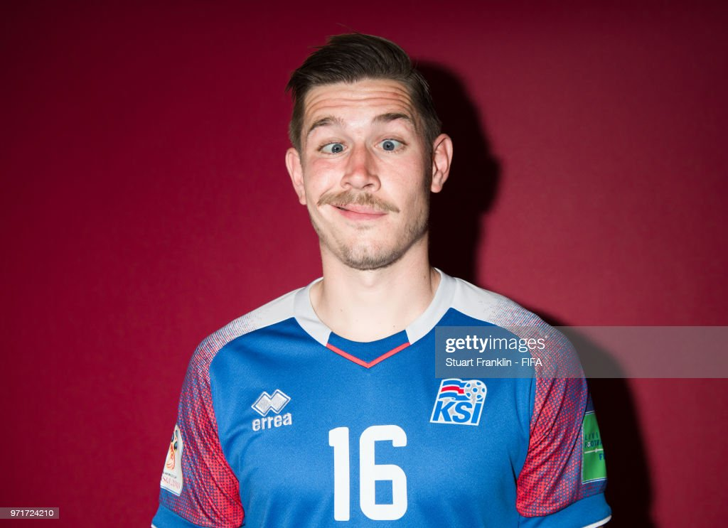 Olafur Skulason of Iceland poses for a picture during the official FIFA World Cup 2018 portrait session at on June 11, 2018 in Gelendzhik, Russia.