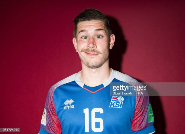 Olafur Skulason of Iceland poses for a picture during the official FIFA World Cup 2018 portrait session at on June 11 2018 in Gelendzhik Russia
