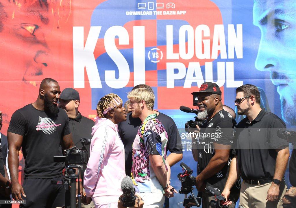 KSI VS. Logan Paul 2 - Launch Press Conference : News Photo