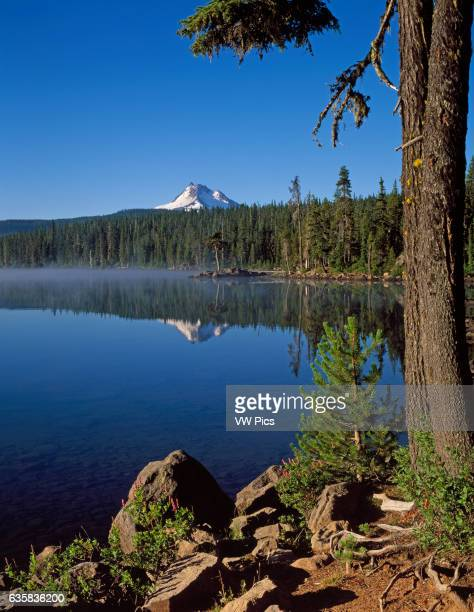 Olallie Lake and Mount Jefferson Olaliie Lake Scenic Area Mount Hood National Forest Cascade Mountains Oregon