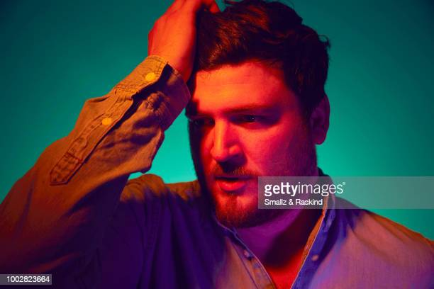 Olan Rogers from TBS's 'Final Space' poses for a portrait at the Getty Images Portrait Studio powered by Pizza Hut at San Diego 2018 Comic Con at...