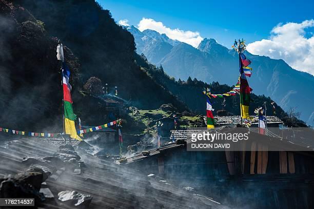 Olangchungola tibetan village in Nepal.