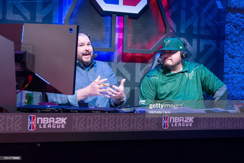 Olarry of Bucks Gaming speaks with the media after the game against Mavs Gaming during Week 12 of the NBA 2K League on August 10, 2018 at the NBA 2K Studio in Long Island City, New York.