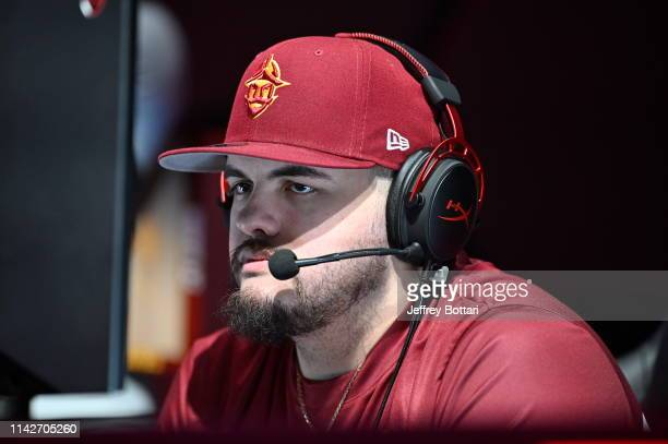 OLarry of Cavs Legion Gaming Club stares on during the game against Jazz Gaming during the midseason tournament The Turn on May 10 2019 at the NBA 2K...