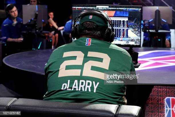 oLARRY of the Bucks Gaming plays the game against the Warriors Gaming Squad on August 4 2018 at the NBA 2K Studio in Long Island City New York NOTE...