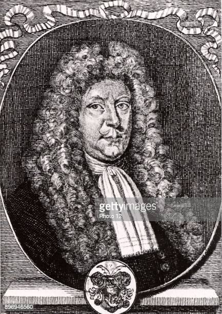 Olaus Borrichius or Ole or Olug Borch Dutch chemist and alchemist Engraving from 'Icones Virorum' by Friedrich RothScholtz