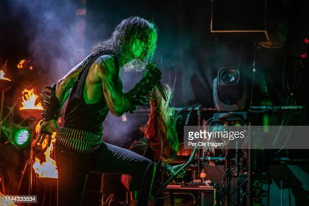 Olav Ravn Bergene and Idar Archaon Burheim from the band 1349 perform on stage during The Inferno Festival at Rockefeller Music Hall on April 21 2019...