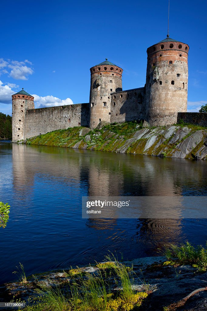 Olavinlinna Castle Finland : Stock Photo