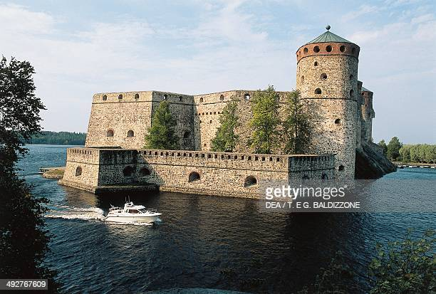 Olavinlinna castle founded in 1475 by Erik Axelsson Tott governor of Vyborg and Eastern Provinces dedicated to St Olof Norwegian Catholic saint who...