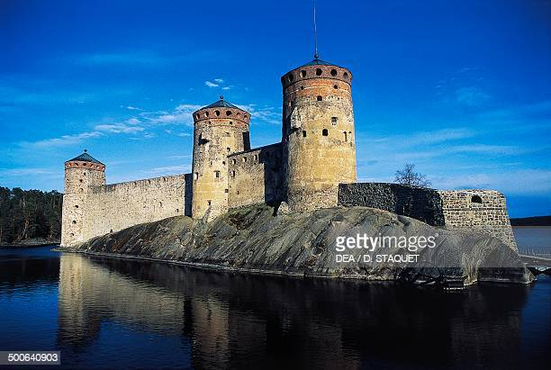 Olavinlinna castle founded in 1475 by Erik Axelsson Tott governor of Vyborg and Eastern Provinces dedicated to Olof Norwegian Catholic saint who...