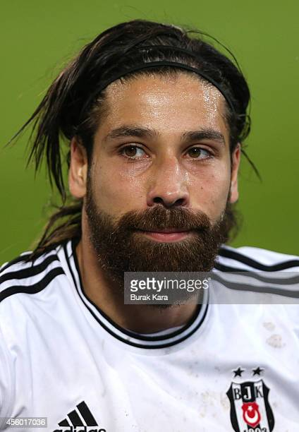 Olcay Sahan of Besiktas in action during the UEFA Europa League Group C match between Besiktas JK and Asteras Tripolis FC at the Ataturk Olympic...
