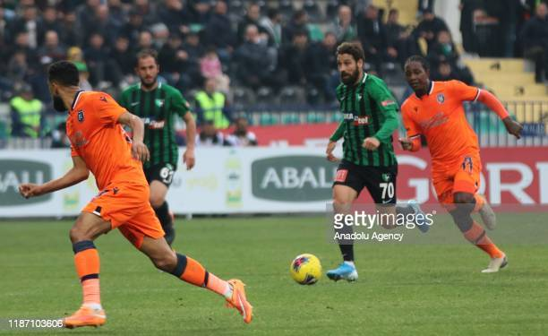 Olcay Sahan of Yukatel Denizlispor in action during Turkish Super Lig soccer match between Yukatel Denizlispor and Medipol Basaksehir at Denizli...
