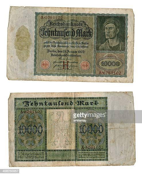 Old 1922 deutsche Geldscheine, 10.000 Teilnehmer ('Vampire'Hinweis)