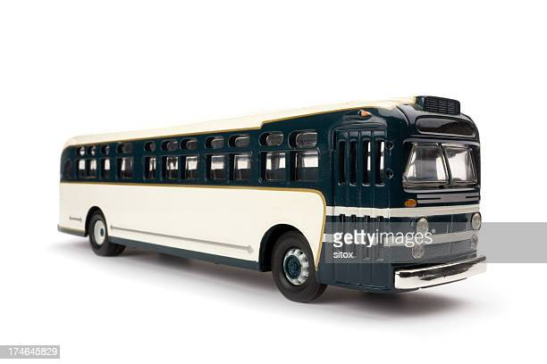 Old 1950s style Greyhound like toy coach
