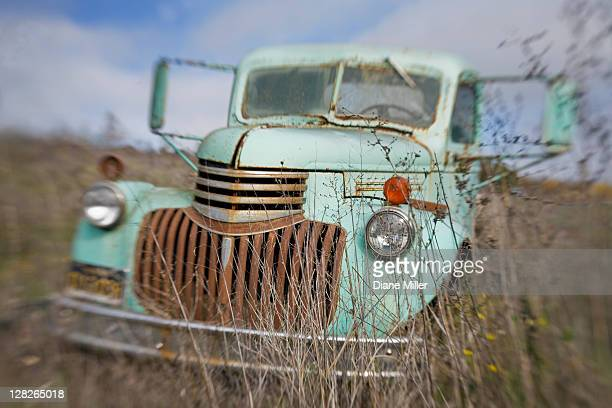 Old abandoned 1938 Chevy truck