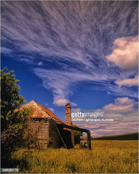 Old abandoned cottage, Flinders Island, part of the Furneaux group, eastern Bass Strait, Tasmania.
