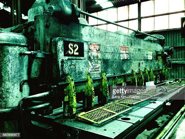 old abandoned machinery in factory - run down stock pictures, royalty-free photos & images