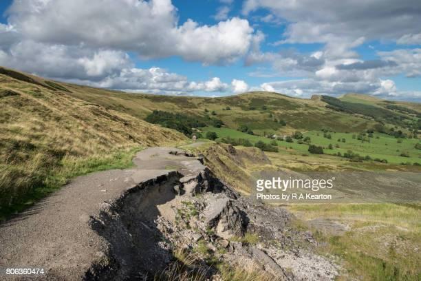 Old abandoned road below Mam Tor, Castleton, Derbyshire