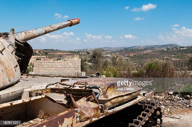 Old abandoned tank in southern Lebanon