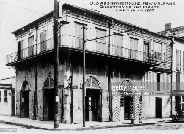 Old Absinthe House New Orleans Louisianna The famous pirate Jean Lafitte used it as his headquarters in 1807 and the painter Edgar Degas drank here...