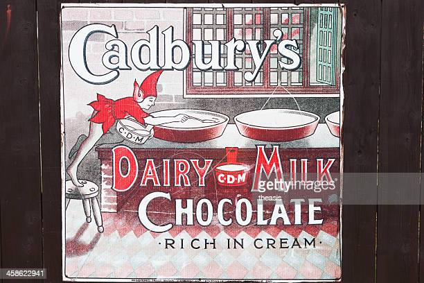 Old Advertisement for Cadbury's Dairy Milk Chocolate