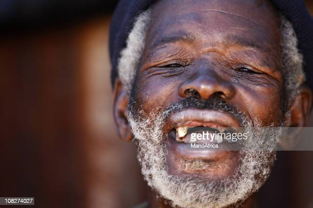Old African laughing