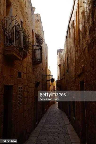 Old Alleys in Mdina, Dusk, Malta