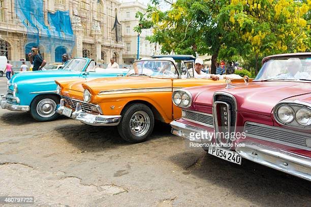 Old American cars from the 1950s still running and making an income for their owners in Havana Scarcity in the cars supply has made Cubans innovate...