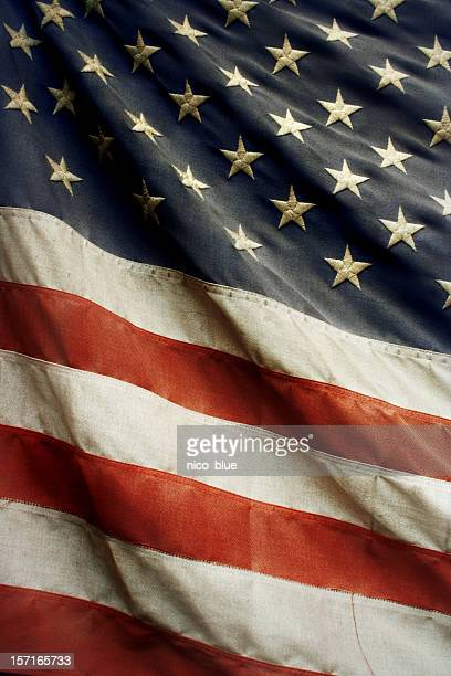 old american flag - run down stock pictures, royalty-free photos & images