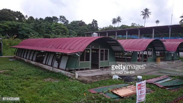 Old American military barracks on Manus Island, PNG.
