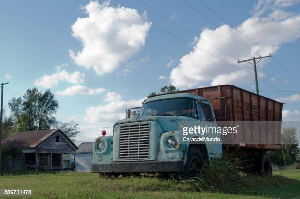 old american truck at mississippi delta - mississippi - mississippi delta stock photos and pictures