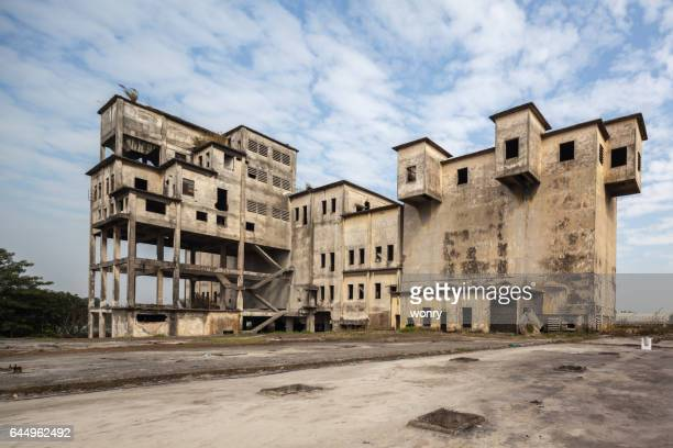old and abandoned factory - abandoned stock pictures, royalty-free photos & images