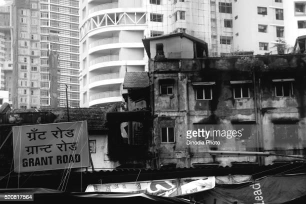 Old and modern residential building near Grant Road, Bombay Mumbai, Maharashtra, India