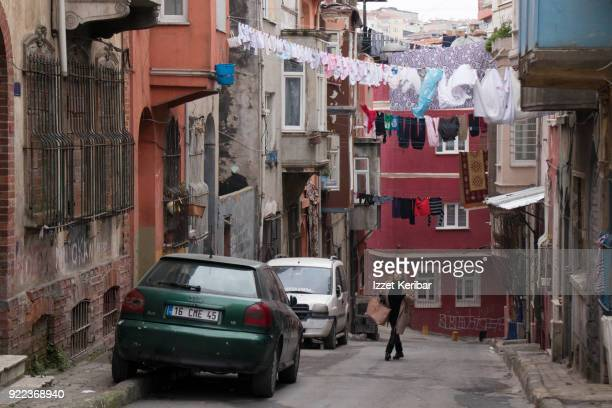Old and neglected streets of Tarlabasi neighbourhood, Istanbul Taksim