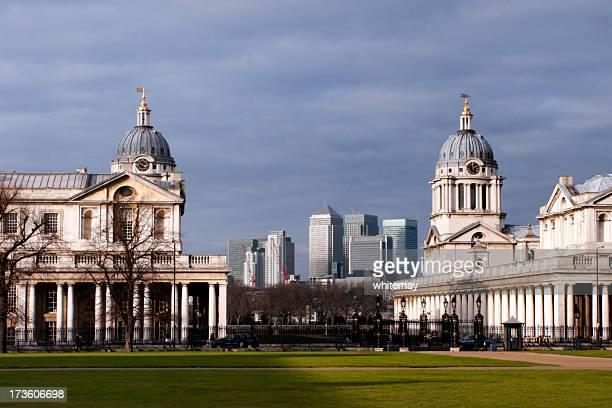Alten und neuen Gebäude im Greenwich
