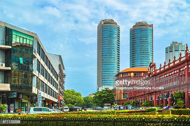 Old and new buildings in Fort of Colombo