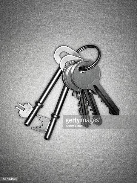Old and new keys on key ring