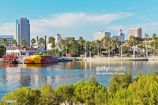 old and new long beach (p) - long beach california stock photos and pictures