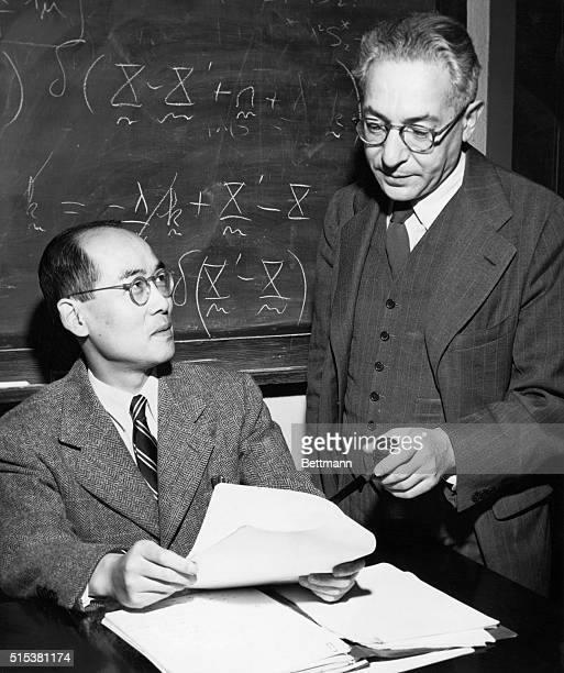 Old and new Nobel Prize winners get together Dr Hideki Yukawa left Visiting Professor of Physics at Columbia University who has just been awarded the...