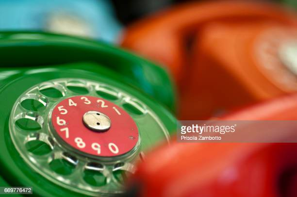 Old and vintage telephones